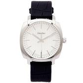CK Calvin Klein Highline 玩味時尚概念手錶(K5M311C6)-銀白面X黑色/40mm