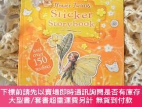 二手書博民逛書店flower罕見fairies sticker storybook 花仙子貼紙故事書Y455138 Cicel