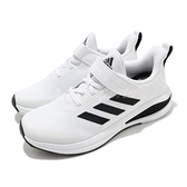 adidas 慢跑鞋 FortaRun EL K 白 黑 童鞋 中童鞋 魔鬼氈 運動鞋 【ACS】 FW2578