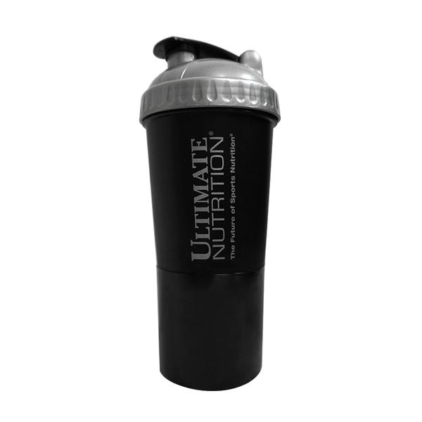 Ultimate Nutrition 原廠健身奶昔雙層搖搖杯 附2用收納盒 600ml