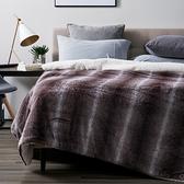 (組)巴洛克奢華長羔絨毯雙人-可可+淨睡眠長效防螨抗菌支撐型對枕