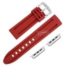 Apple Watch / 38.40.42.44mm / 蘋果手錶替用錶帶 蘋果錶帶 加厚 運動型 矽膠錶帶 紅色 #804-13-DR