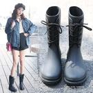 春秋新款時尚小馬靴套鞋輕便防滑水雨靴中筒水鞋膠鞋潮成人雨鞋女 依凡卡時尚
