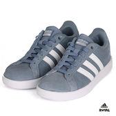 Adidas 新竹皇家 CF Advantage 天藍 麂皮 休閒鞋 女款 NO.I8284