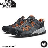 【The North Face 男DryVent防水健行鞋《灰橘》】46CJ/健行鞋/越野鞋/防水鞋/跑步/路跑