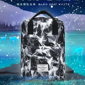 手提後背包休閒韓版簡約電腦背包旅行包書包【聚可愛】