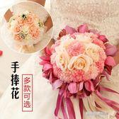 新娘手捧花結婚新款 仿真韓式婚禮玫瑰花束影樓拍攝道具婚慶用品  凱斯盾數位3c