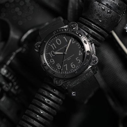 Hamilton 漢米爾頓 KHAKI NAVY BELOWZERO 深海巨獸1000米鈦金屬潛水機械錶 H78505330