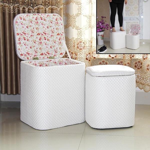多功能收納凳子可坐成人家用現代簡約實木換鞋凳皮布藝沙發儲物凳 一木良品