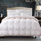 羽絨被 寢具-扭花保暖輕盈白鴨絨雙人棉被3色72aa26[時尚巴黎]