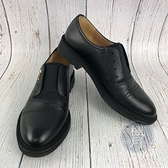BRAND楓月SALVATORE FERRAGAMO 黑色 鬆緊 金LOGO 休閒 皮鞋 男鞋 #6.5M 鞋子