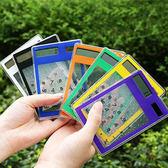 ◄ 生活家精品 ►【P62】太陽能計算機 透明 觸摸型 觸控 計算器 便攜 學生 會計 皮夾 8位