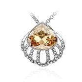 項鍊 925純銀 水晶墜飾-高貴鑲鑽生日情人節禮物女飾品銀飾73aj554【時尚巴黎】