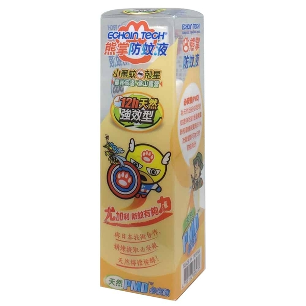 ECHAIN TECH 熊掌12hr.天然強效型防蚊液 - PMD配方 60ML/瓶◆德瑞健康家◆
