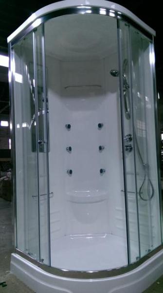 【麗室衛浴】小木屋、民宿最愛,圓弧型整體淋浴室 95*95 高215 含淋浴設備一套、6只SPA噴頭組 S-121