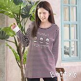 betty's貝蒂思 可愛牛奶瓶造型拼接上衣(暗紅)