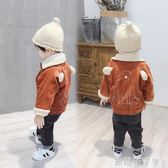 寶寶外套男1一3歲嬰兒2加絨4洋氣兒童加厚上衣男童秋冬潮裝燈芯絨 焦糖布丁