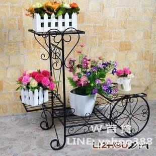 鐵藝花架 落地花盆座 陽台庭院用