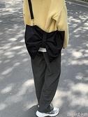 牛津布包 氣質網紅同款小眾個性蝴蝶結托特包大容量斜背包側背牛津布女布包  新品