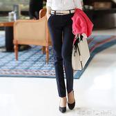 西裝褲 黑色休閒西褲女秋冬新款長褲子加絨保暖工裝職業工作西裝黑褲 潔思米
