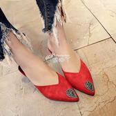 新款女鞋 單鞋高跟鞋細跟低跟涼鞋人字拖女包頭尖頭防滑拖鞋 俏腳丫