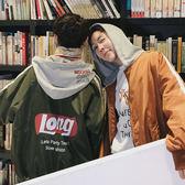 棒球服男韓版印花寬鬆連帽外套衫學生春裝2018新款BF風外套情侶潮 挪威森林