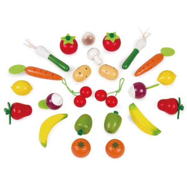法國 Janod 妙廚師好料理-蔬果總匯提籃組 24pcs|扮家家酒
