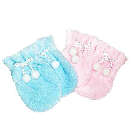 【奇買親子購物網】黃金海獺WOWOCHAN秋冬嬰兒手套(藍/粉紅)