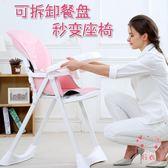 寶寶餐椅嬰兒童用可折疊便攜式多功能宜家座椅小孩吃飯餐桌bb凳子XW 聖誕禮物