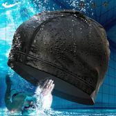 游泳帽泳帽PU男成人女長發布料套寬鬆