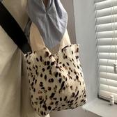 春夏小清新可愛波點環保便當包皺布袋手提包碎花帆布包包 夏季新品