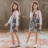 女童牛仔背帶裙兒童夏季連身裙小女孩公主洋裝2019韓版新款洋氣潮 GD892『小美日記』