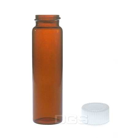 《KIMBLE/NATIONAL》茶色螺蓋樣本瓶 白蓋PTFE墊片 Vial, Sample, Screw Thread, Amber, PTFE Lined Closure