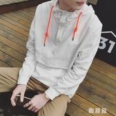 衛衣男連帽秋款套頭韓版潮流寬鬆帽衫長袖學生上衣男士外套薄款YJ1140【雅居屋】