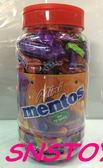 sns 古早味 懷舊零食 mentos 綜合水果軟糖 曼陀珠 水果軟糖 小條 (10公克x75條 / 罐)