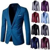男士西服加肥加大碼商務職業休閒小西裝青年夏季韓版修身單西外套 茱莉亞