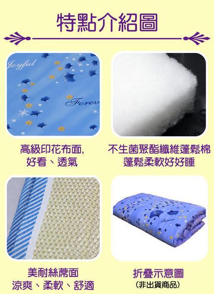 《家購網寢俱館》星辰系列-超值兩用折疊床墊-單人 (藍銀杏)