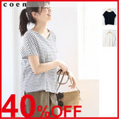 女T恤 V領 棉質上衣 『Liniere』6月號刊載 日本品牌【coen】