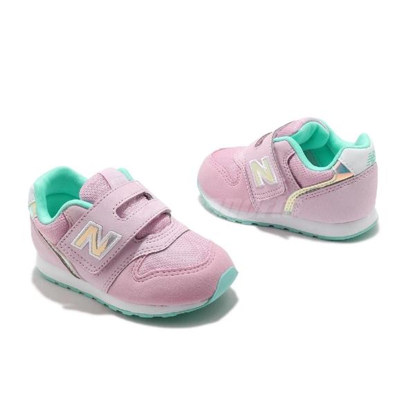 New Balance 慢跑鞋 NB 996 Wide 寬楦 粉 綠 童鞋 小童鞋 麂皮 魔鬼氈 休閒鞋【ACS】 IZ996HPNW