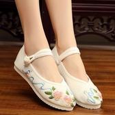 老北京布鞋女 中國風素色漢服配鞋繡花鞋古裝平底單鞋‧復古‧衣閣