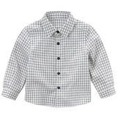 長袖襯衫 小童/大童 DaveBella 長袖襯衫 / 上衣 - 深藍白格紋 DB4533