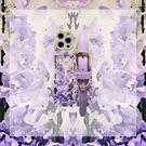清新手腕帶iPhone13 Pro Max保護殼 紫花卉蘋果13 Pro手機套 蘋果軟殼創意13保護套 IPhone 13日韓手機殼