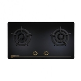 莊頭北 二級節能雙口黑色玻璃檯面瓦斯爐(桶裝瓦斯用)-TG-8503G(LPG)