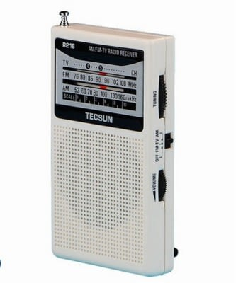 R-218 R218多波段袖珍式調幅/調頻/校園廣播收音機CY