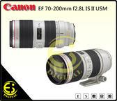 ES數位 Canon EF 70-200mm F2.8 L USM IS II 望遠變焦 鏡頭 小白IS二代 贈禮券 拭鏡筆