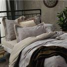 好傢在家居生活館-床包/雙人加大6x6.2尺-100%棉-[安縵54086包床-凝灰金 ]