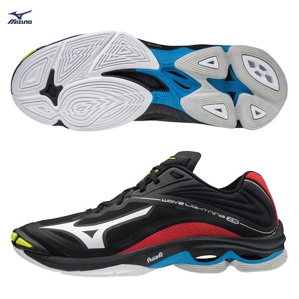 MIZUNO WAVE LIGHTNING Z6 男鞋 排球 手球 止滑 避震 吸震 輕量 黑藍紅【運動世界】V1GA200045