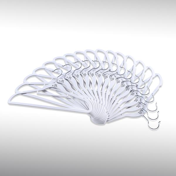 【洛克馬創意生活館】一代 Magic Hanger 韓國熱銷款不滑落衣架 120支組 銀白色  植絨 超薄 支撐性優