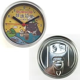 【收藏天地】吸掛兩用罐頭時鐘·*珍珠奶茶