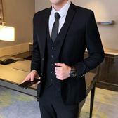 韓版修身西裝套裝男士商務休閒青少年小西服外套結婚禮服職業正裝-Ifashion